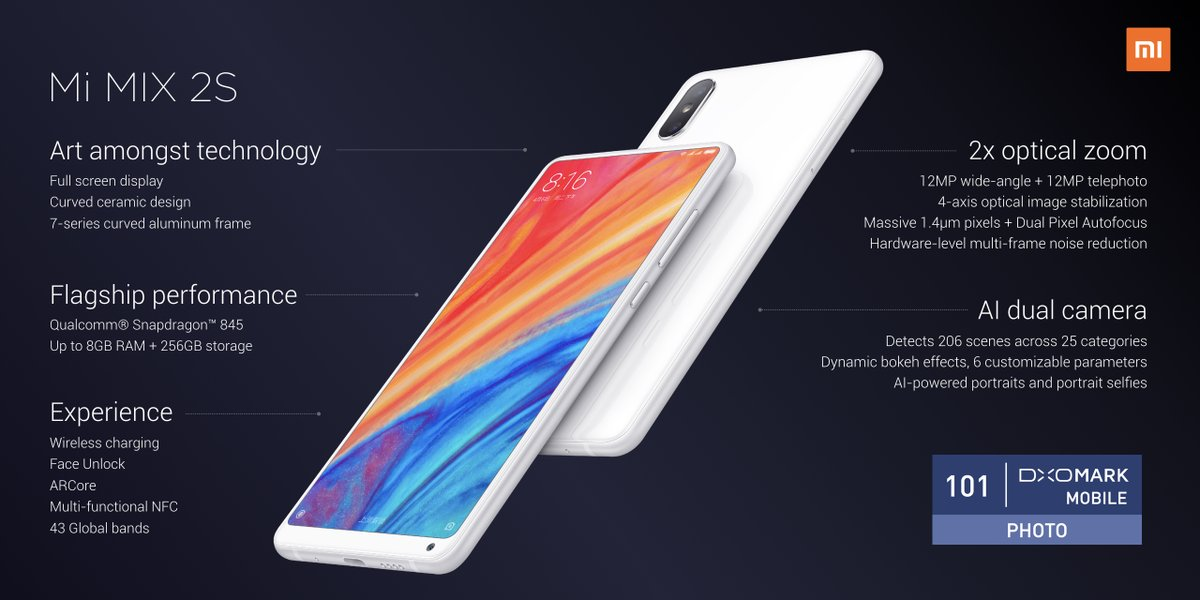 Xiaomi Mi Mix 2S Features