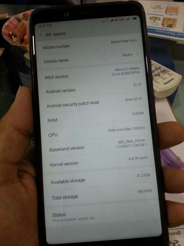 Indian Xiaomi Redmi Note 5 Pro Android Oreo (Android 8.1) Project Treble