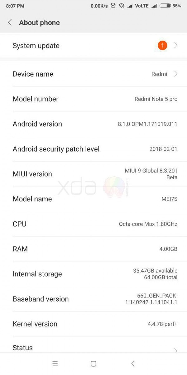 Android Oreo-based MIUI 9 Global Beta ROM leaked for Indian Xiaomi
