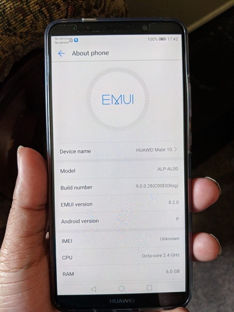 Huawei Mate 10 Pro Android P