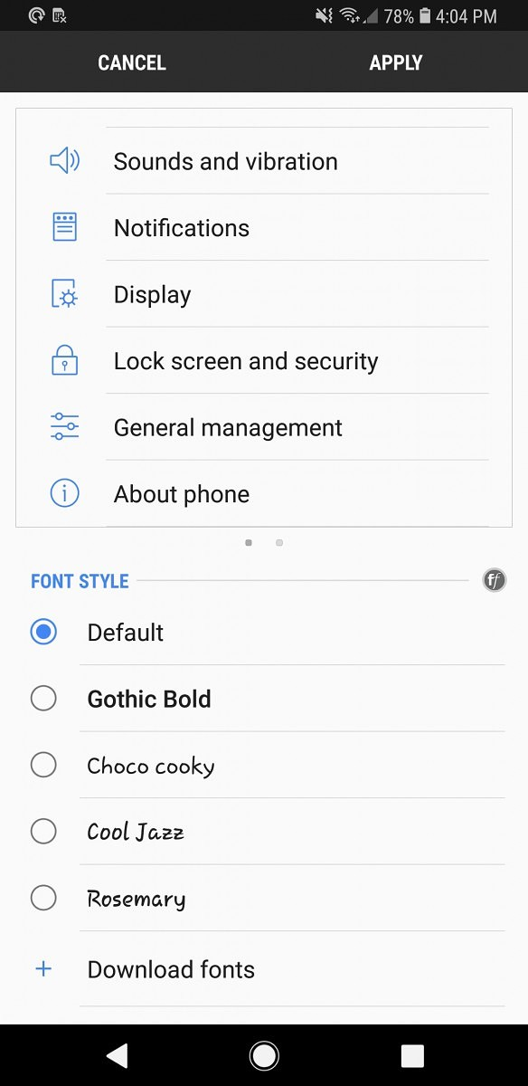 How to change fonts for Android