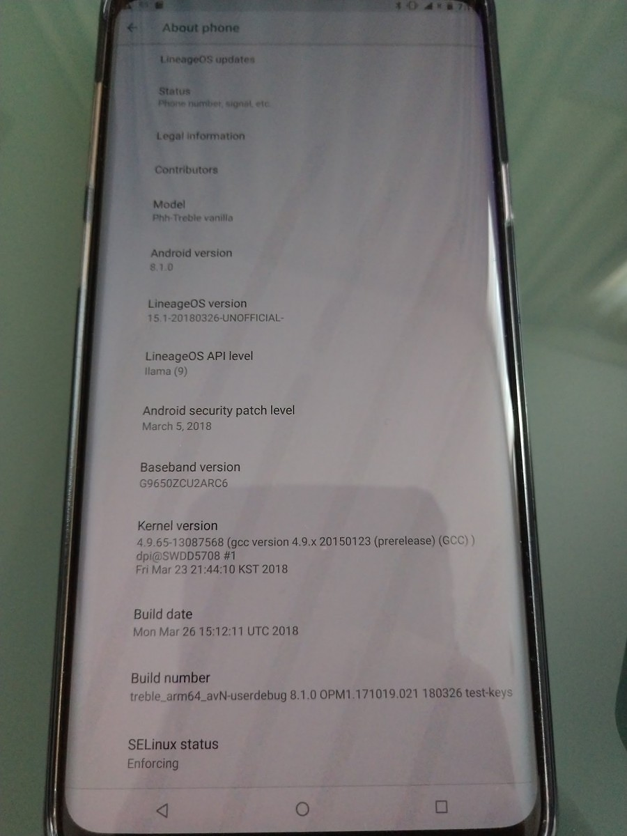Snapdragon Samsung Galaxy S9 devices can also run LineageOS 15 1