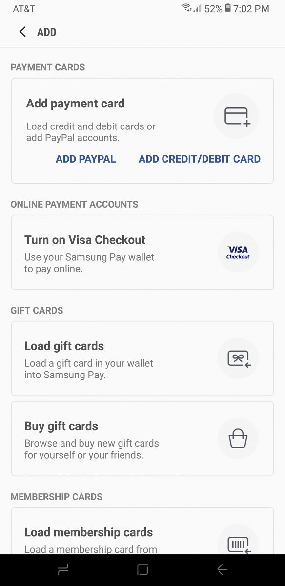 Samsung Pay PayPal Integration