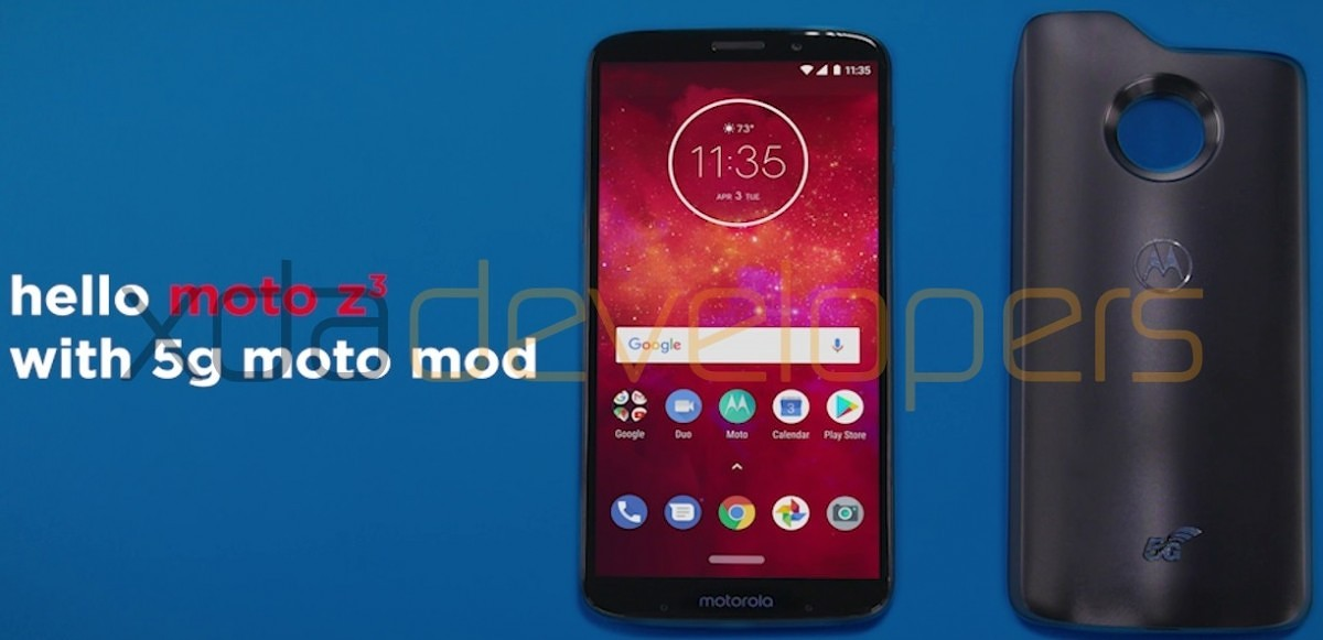 Exclusive: Moto Z3 Play and 5G Moto Mod Showcased in New