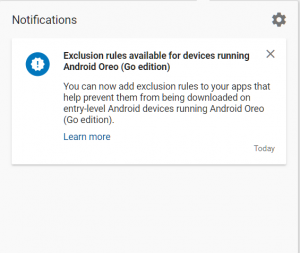 Developers can restrict Android Go devices from downloading