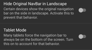 Navigation Gestures Compatibility Settings