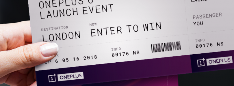 Win a Trip to see the OnePlus 6 Launch Live in London [USA/CA Only]