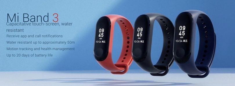 Xiaomi launches the Mi Band 3 in India for ₹1,999 ($28)