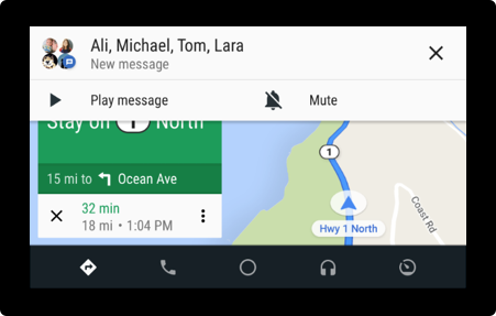 Android Auto Message
