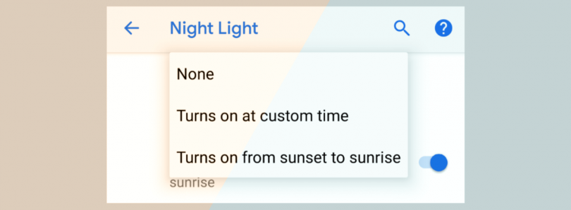 Android P may be adding more Night Light customization options