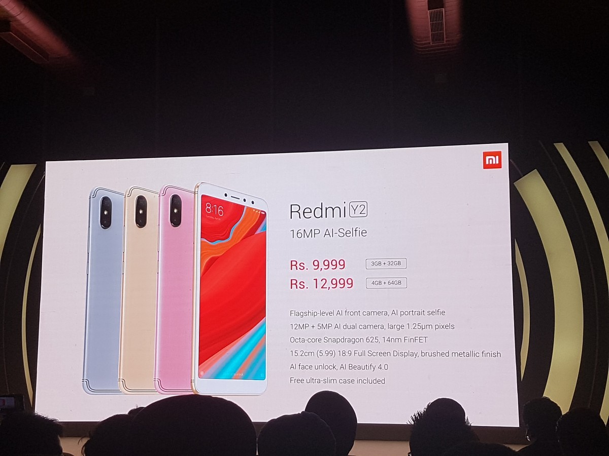 Xiaomi Redmi Y2 Launched in India, MIUI 10 Global Rollout