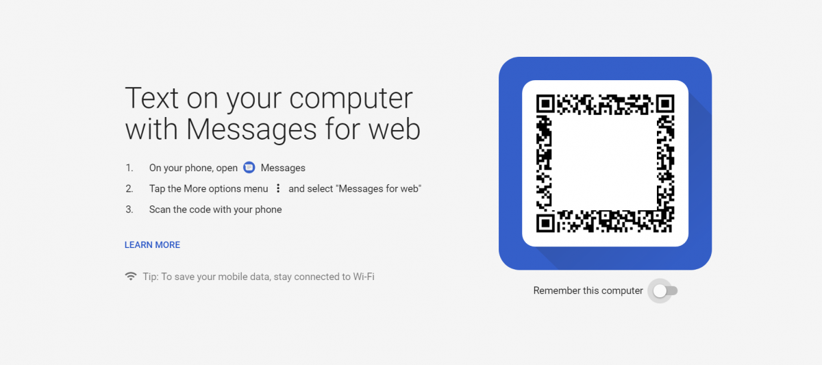 Android Messages for desktop browsers like Google Chrome, Firefox