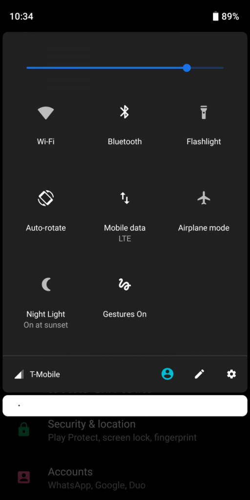 Android P Dark Custom Theme