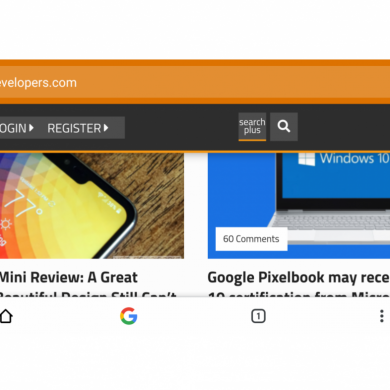 Google Chrome's split toolbar flag makes it easy to browse one-handed
