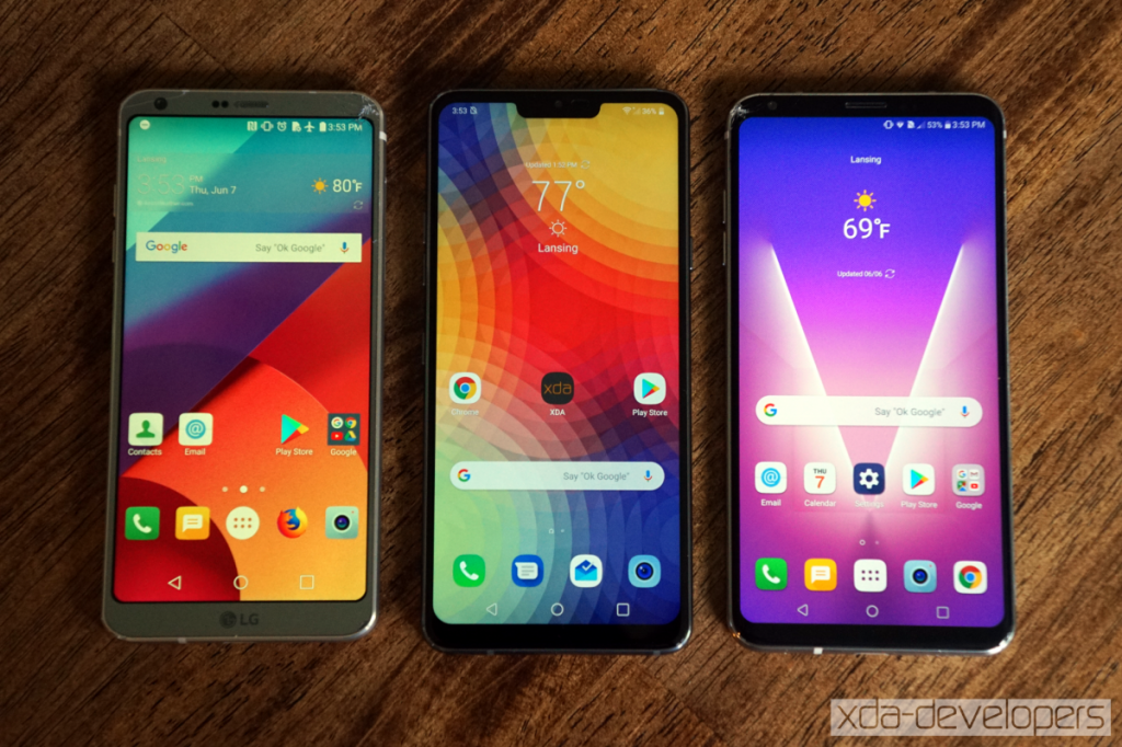 LG V40 appears online with POLED notched display & Google
