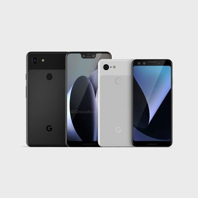 Google Pixel 3 and Pixel 3 XL leaked renders show notch and bigger displays