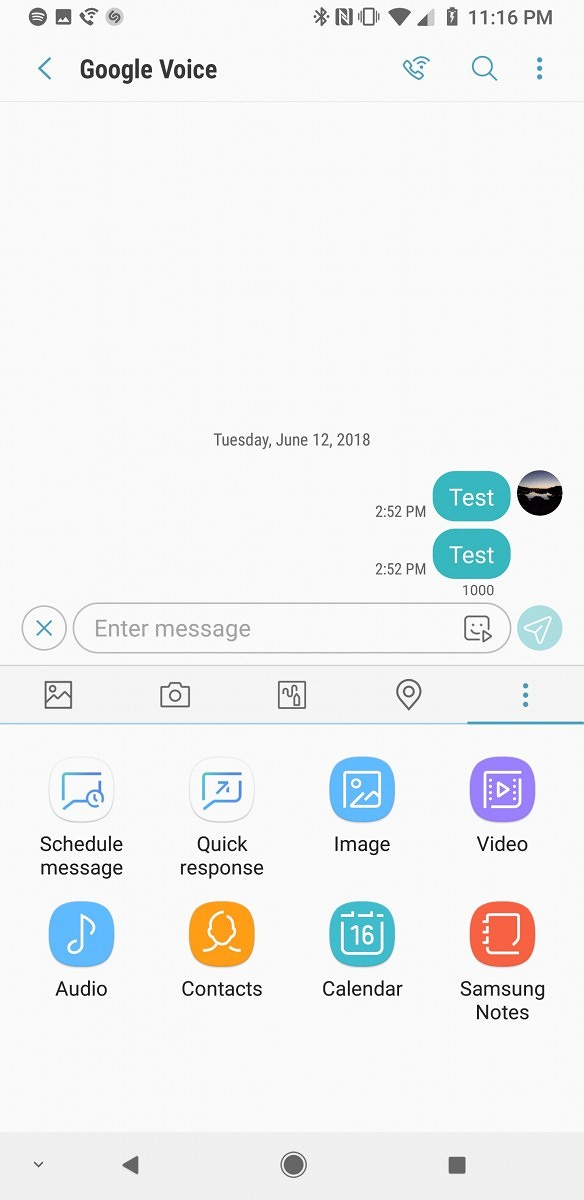 Samsung Messages now lets you add custom ringtones to each