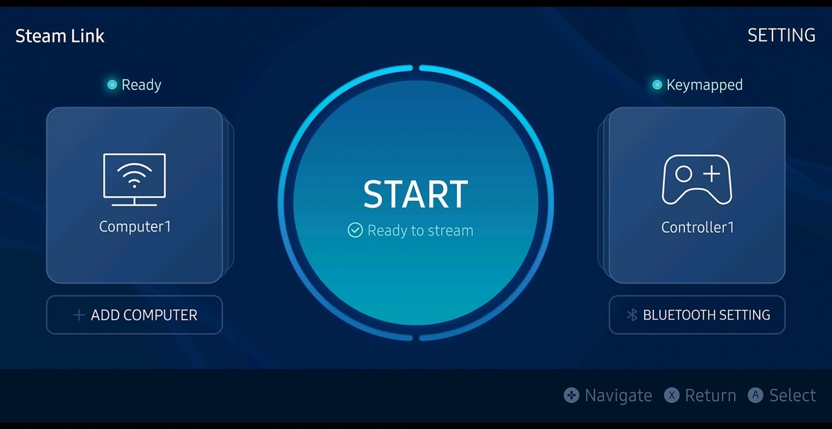 Steam Link optimized for the Samsung Galaxy phones in Galaxy