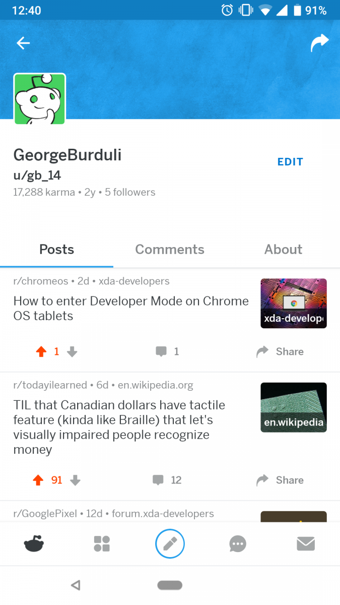 Official Reddit for Android beta lets you crosspost and edit