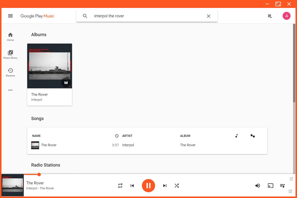 Unofficial Google Play Music desktop app now supports