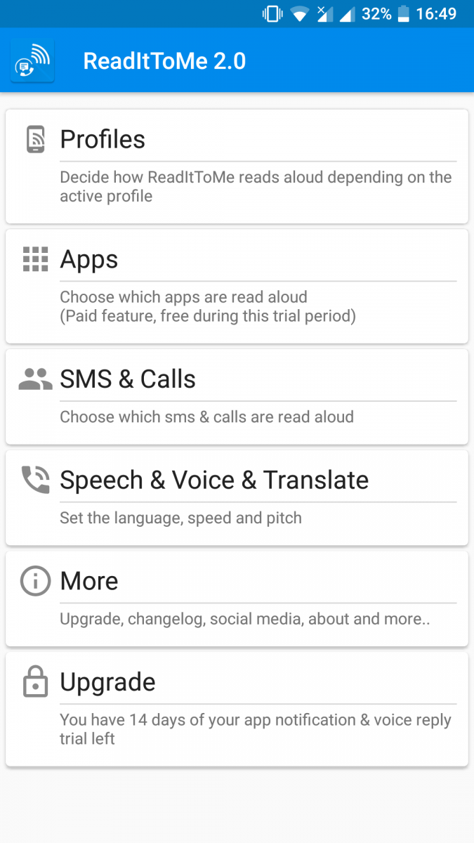 ReadItToMe reads and lets you respond to Whatsapp, Telegram