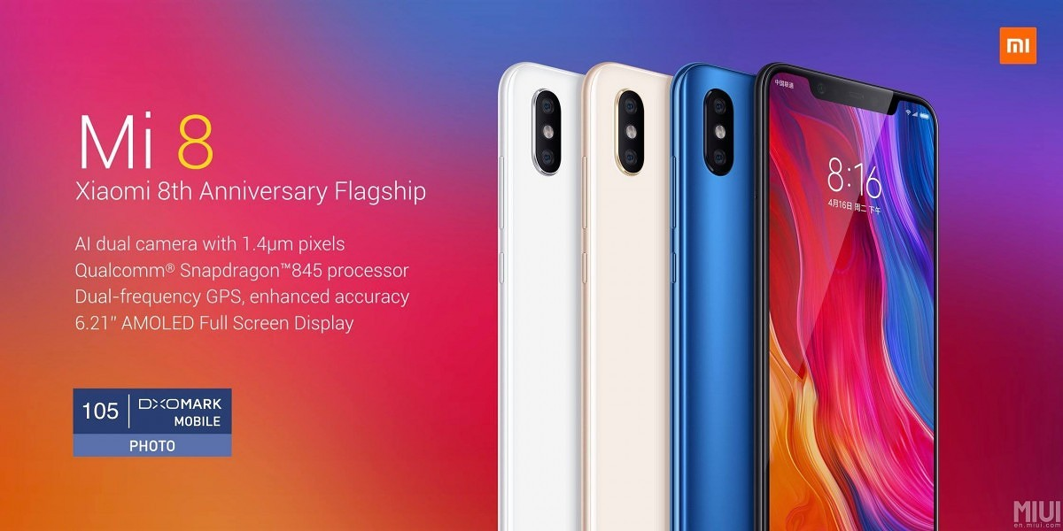 MIUI 9 Global ROM now available for the Xiaomi Mi 8