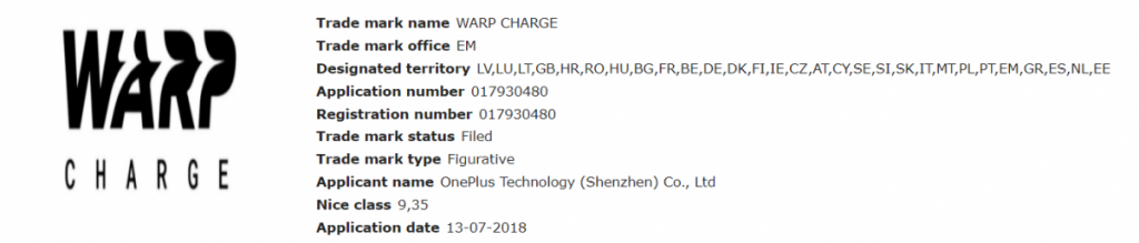 OnePlus to trademark