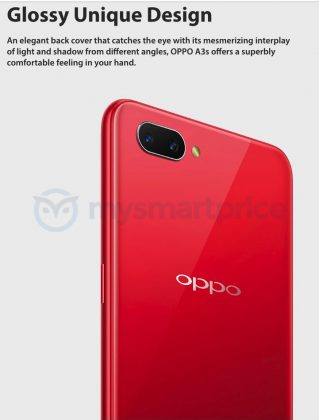 OPPO A3s leak reveals big battery, dual cameras, and notched