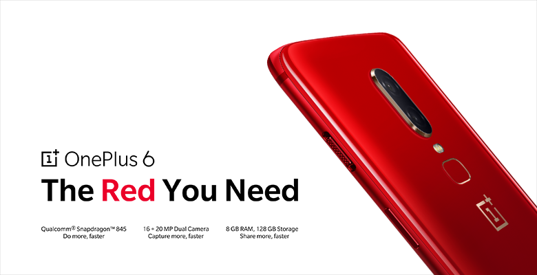 743e917d134 OnePlus 6 Red model with 8GB RAM   128GB storage announced