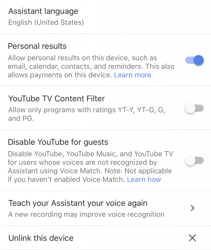 Disable YouTube for guests