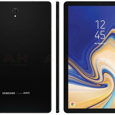 Samsung Galaxy Tab S4 render shows slim bezels and no home button