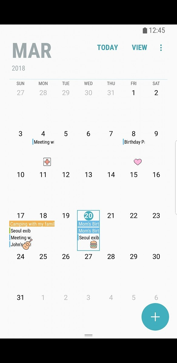 Samsung Calendar update brings stickers to the Samsung Galaxy S8