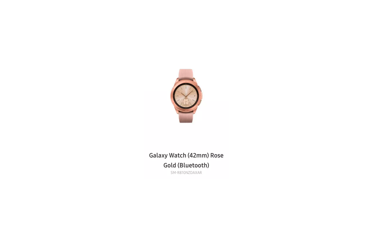 Samsung Galaxy Watch In 42mm Rose Gold Appears On Samsung S Site