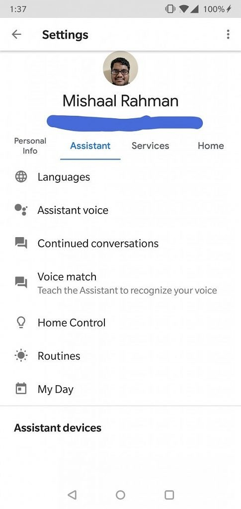Google App Google Assistant settings page redesign