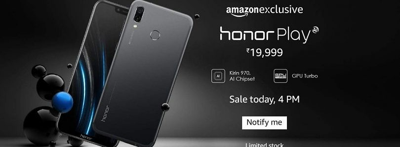 Honor Play launched in India with Kirin 970, price starts at ₹19,999 ($291)