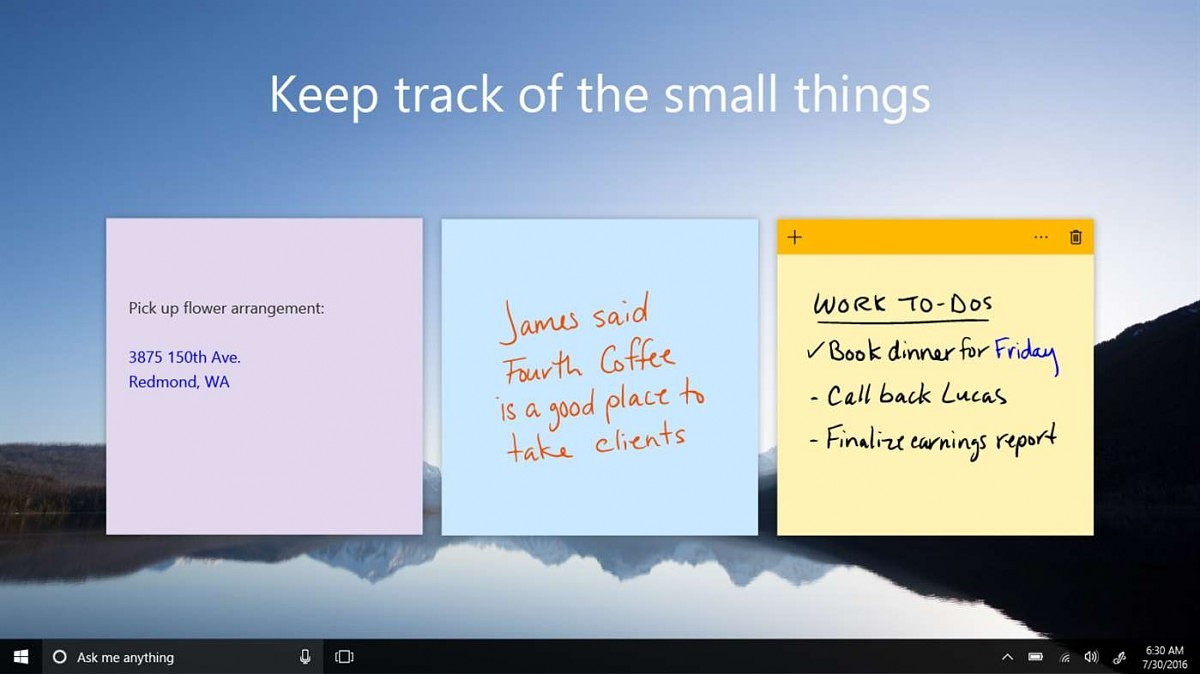 how to fix sticky notes windows 10