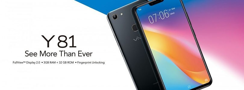Vivo Y81 launched in India with 6.22-inch notched display and MediaTek Helio P22 SoC
