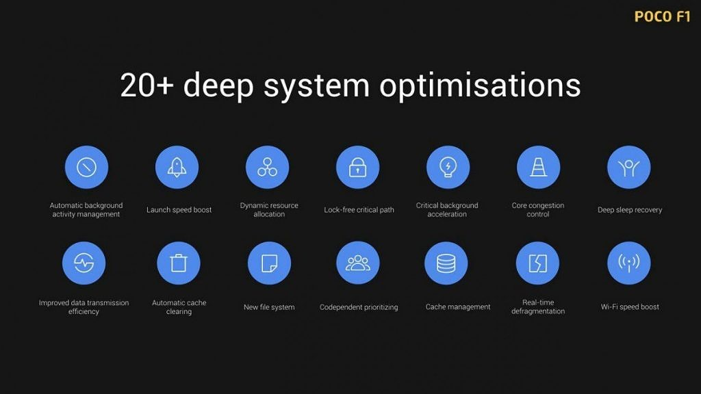 Xiaomi Pocophone F1 Software Optimization, Xiaomi Poco F1