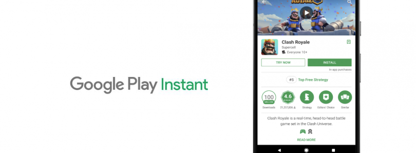 Developers can now publish Instant Apps without a website