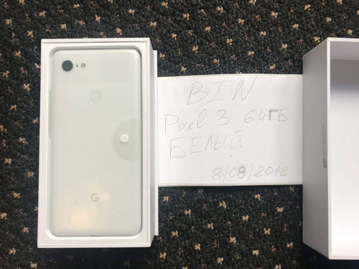 Google Pixel 3 XL live images, box accessories leaked