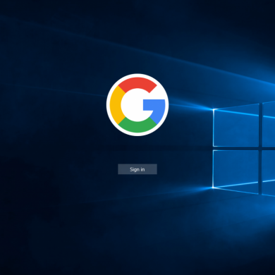Windows 10 may let you use a Google account for signing in