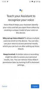 Google Assistant Voice Match