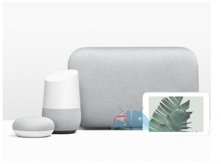 Google Home Hub along with the Google Home, Home Mini, and the Home Max