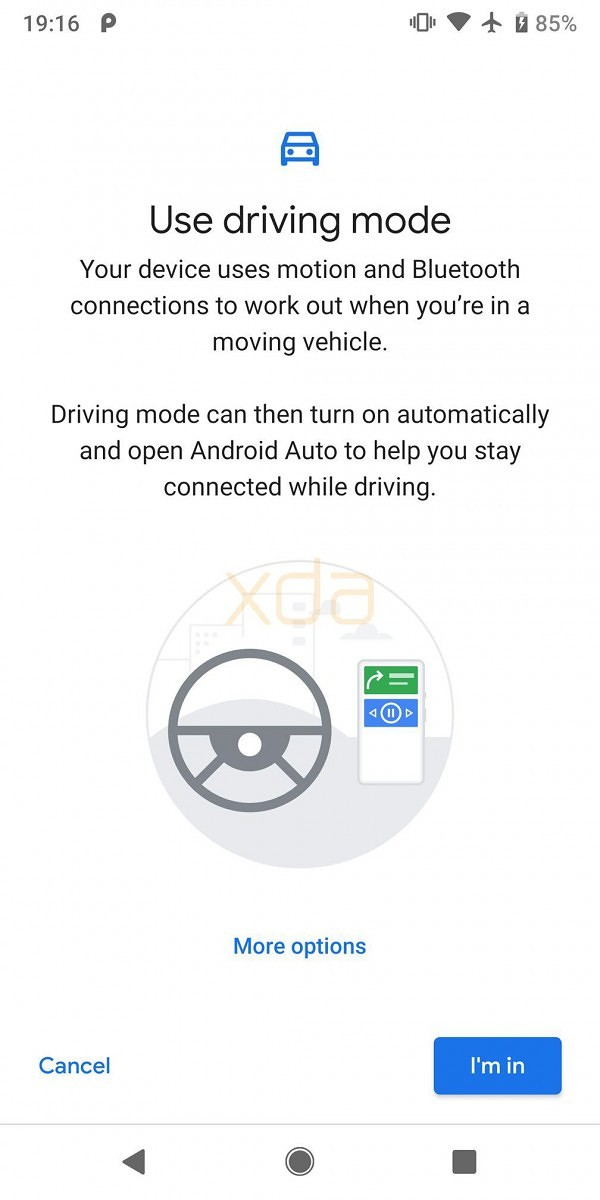 Driving Mode will start Android Auto or Do Not Disturb