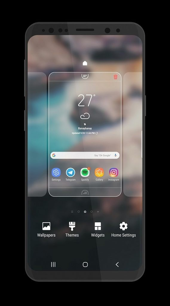 Samsung Experience 10 theme for the Samsung Galaxy S8 and Samsung Galaxy S9