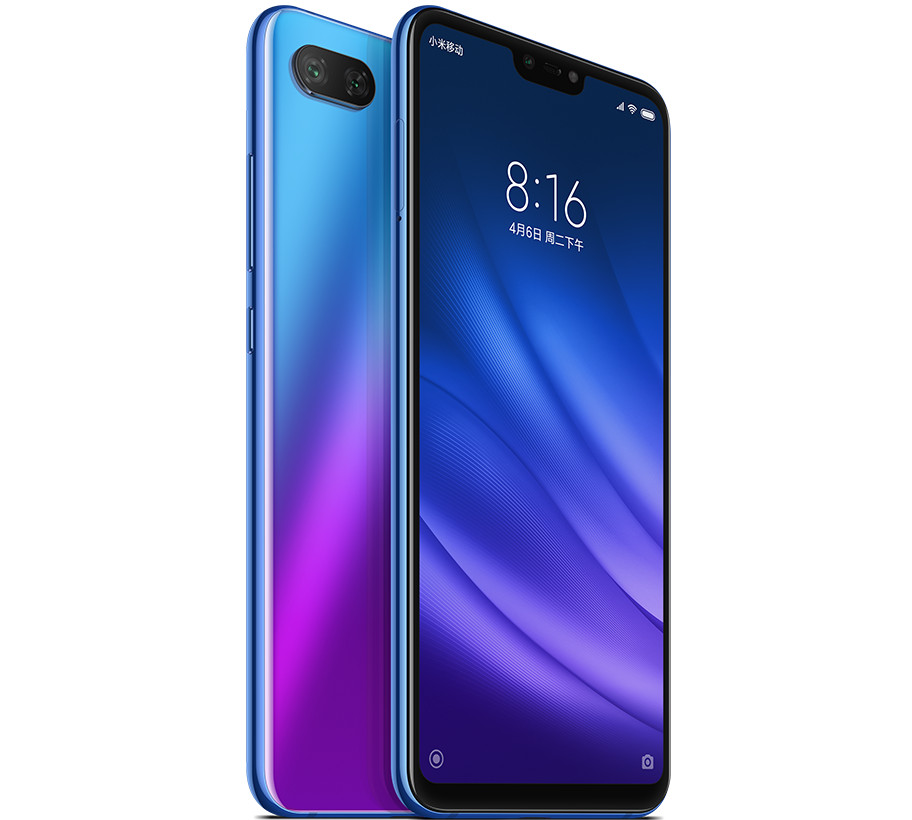 Xiaomi Mi 8 Lite in blue