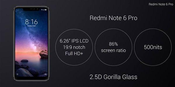 Xiaomi Redmi Note 6 Pro Announced With Notch And Snapdragon 636