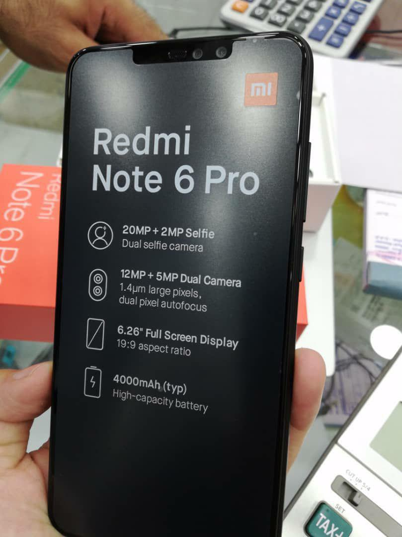 Xiaomi Redmi Note 6 Pro leak shows four cameras and display