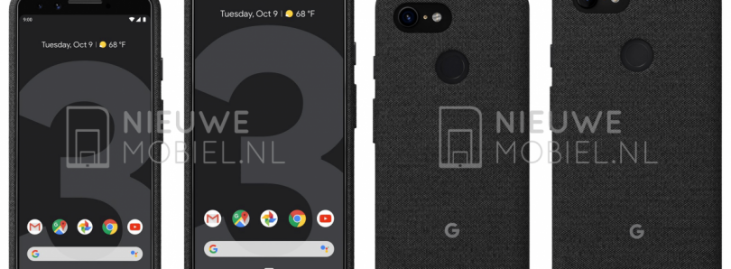 Google Pixel 3 & Pixel 3 XL leaked press renders show off official cases