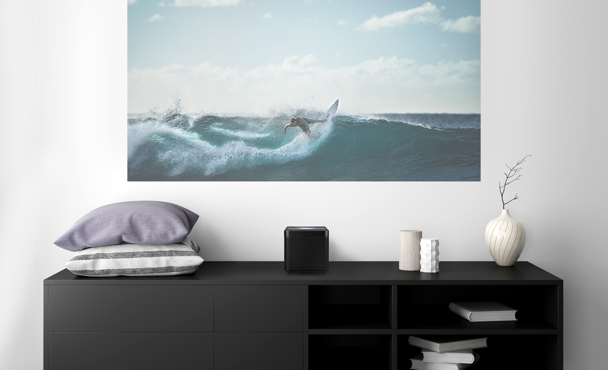Humax Vision is a Google Home that projects Android TV onto a wall